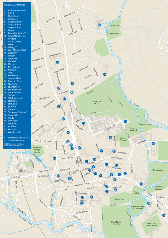 Oxford Colleges Map St. Anne's College MCR